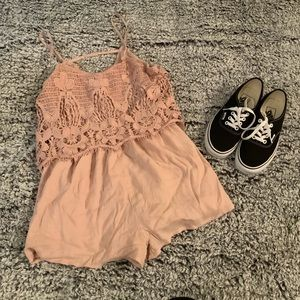 American Eagle Outfitters Lace Romper